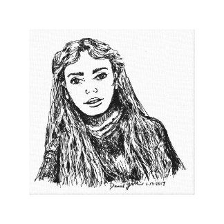 Long Haired Woman Canvas Print