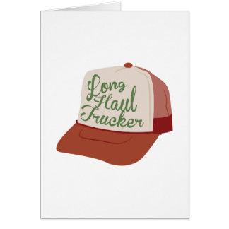 Long Haul Trucker Greeting Card