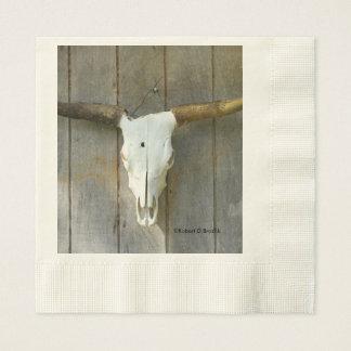 Long Horn Bull Skull Napkins Disposable Serviette
