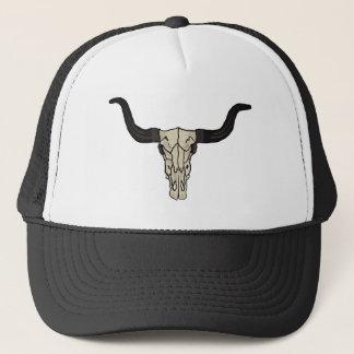 Long Horn Cow Skull Trucker Hat