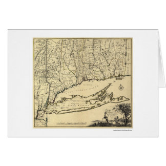 Long Island and Connecticut Map 1780 Card