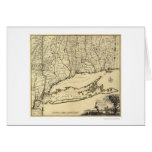 Long Island and Connecticut Map 1780 Greeting Card