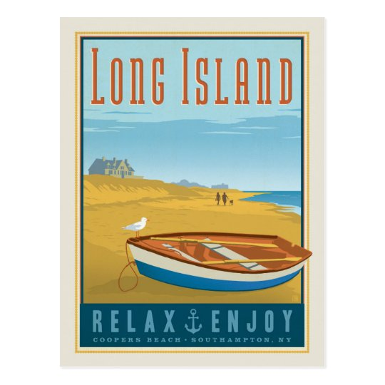 Long Island | Coopers Beach, Southhampton, NY Postcard