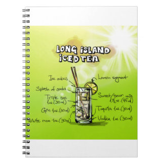 Long Island Iced Tea - Cocktail Gift Spiral Notebook