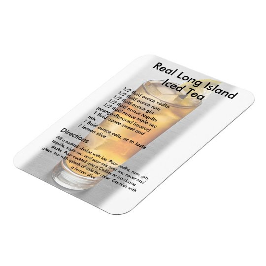Long Island Iced Tea Drink Recipe Magnet