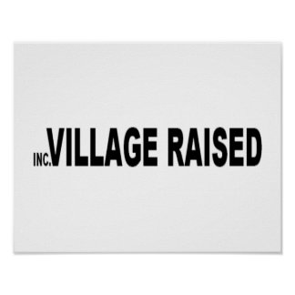 Long Island Incorporated Village Raised Poster