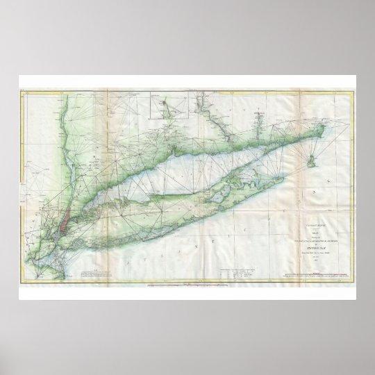 Long Island Nautical Map Poster
