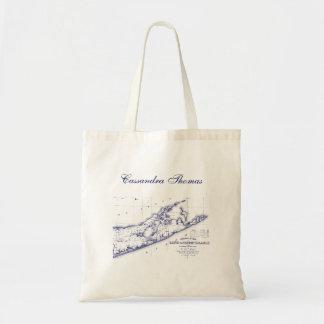 Long Island The Hamptons Map Tote Bag
