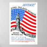 Long Island Women WWII 1941 WPA Poster
