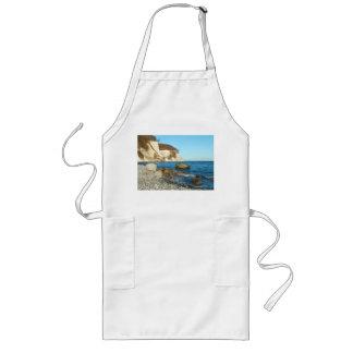 Long kitchen apron chalk rock on reproaches