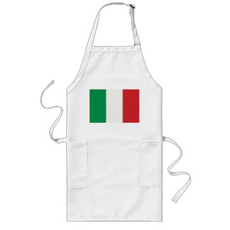 Long kitchen apron with Italy flag