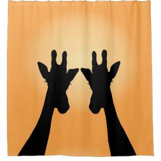Long Lash Giraffes Shower Curtain