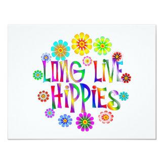 Long Live Hippies 11 Cm X 14 Cm Invitation Card