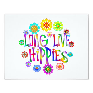 Long Live Hippies Card