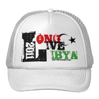LONG LIVE LIBYA AND THE REVOLUTION 2011 MESH HATS
