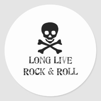 Long Live Rock & Roll Round Sticker