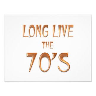 Long Live the 70s Invite