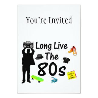 Long Live The 80s Culture 13 Cm X 18 Cm Invitation Card