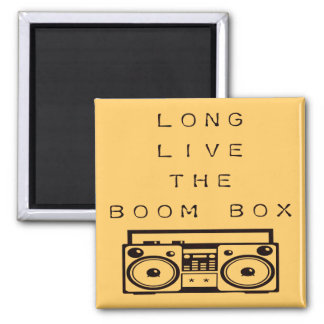 Long Live The Boom Box-Magnet Square Magnet