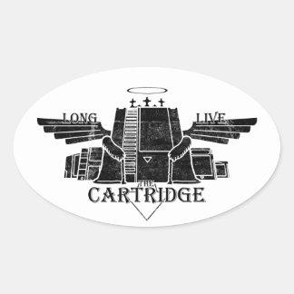 Long Live The Cartridge Oval Sticker