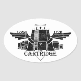 Long Live The Cartridge Oval Stickers