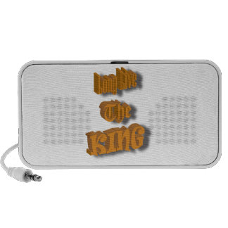 Long Live The King Nice Design transparant Mp3 Speakers