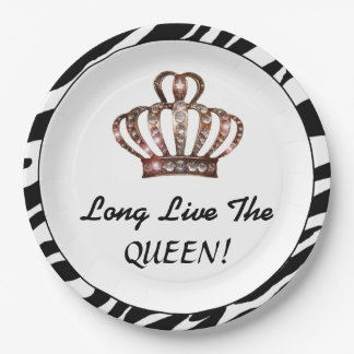 """Long Live The QUEEN!"" Paper Plate"