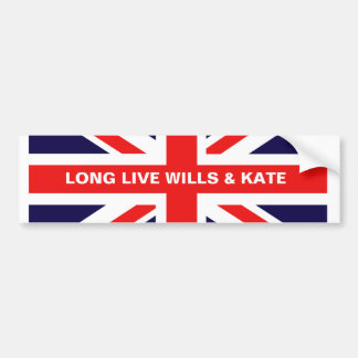 Long Live Wills & Kate Bumper Sticker