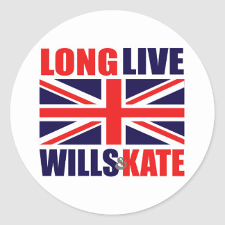 Long Live Wills Kate Round Stickers
