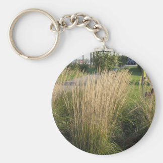 Long Matured Grass giveaway return gifts for KIDS Basic Round Button Key Ring