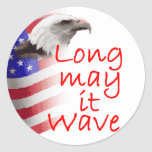 Long May It Wave Sticker