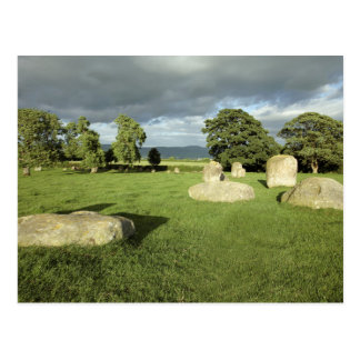 Long Meg and Her Daughters Stone Circle photo Postcard