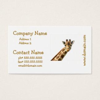 Long Necked Giraffe Business Cards