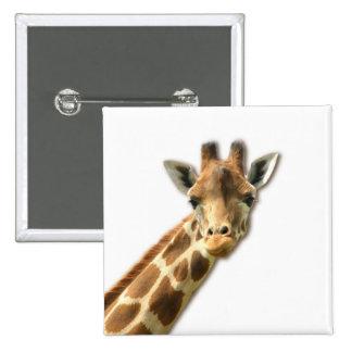 Long Necked Giraffe Button