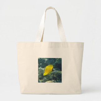 Long Nose Butterfly Fish Large Tote Bag
