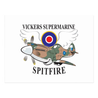 long nose spitfire postcard