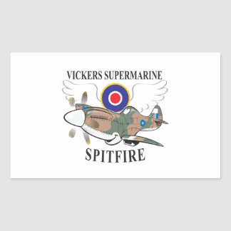 long nose spitfire rectangular sticker