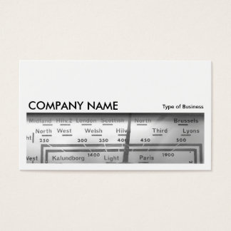 Long Picture 0110 - Old UK Radio Dial Business Card