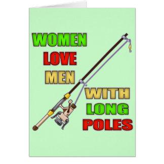 Long Poles Fishing T-shirts and Gifts Card