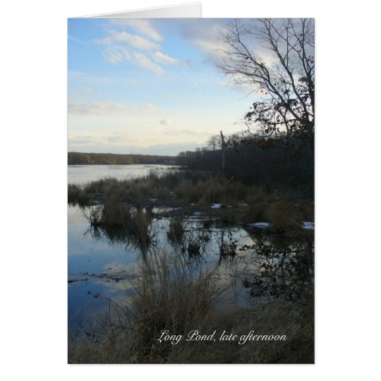Long Pond late afternoon Card