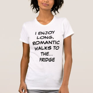Long Romantic Walks to the Fridge Ladies Tank Top