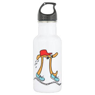 Long Running Pi - Funny Pi Guy 532 Ml Water Bottle