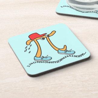 Long Running Pi - Funny Pi Guy Beverage Coasters
