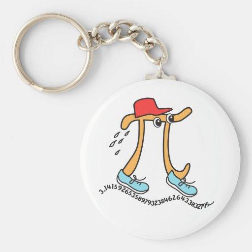 Long Running Pi - Funny Pi Guy Keychains