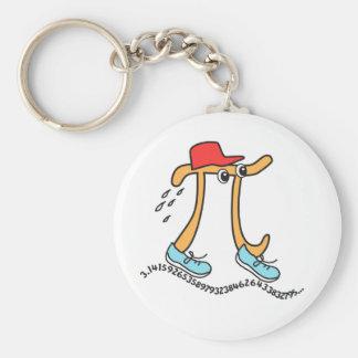 Long Running Pi - Funny Pi Guy Key Chains