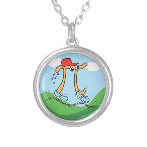 Long Running Pi - Funny Pi Guy Necklace