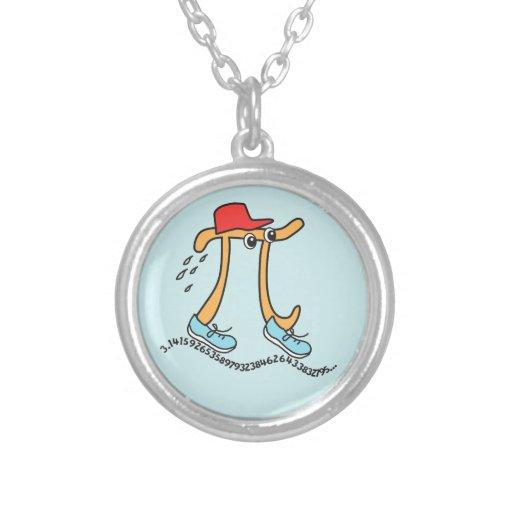 Long Running Pi - Funny Pi Guy Custom Necklace