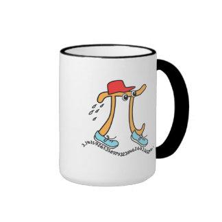 Long Running Pi - Funny Pi Guy Ringer Mug