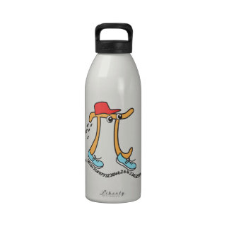 Long Running Pi - Funny Pi Guy Reusable Water Bottles