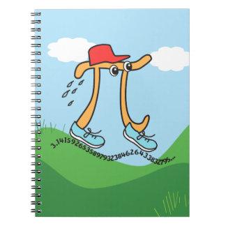 Long Running Pi - Pi Guy - Funny Pi Gift Notebook